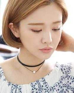 二行真珠チョーカーネックレス(nk509)