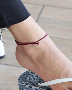 ソリッドカラーの糸足輪(ak077)