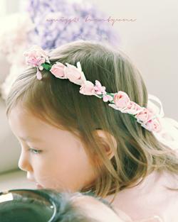 花の国の王冠ヘアバンド(hb491)