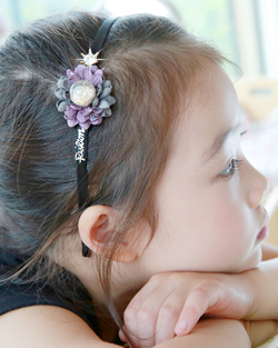 フリージアお花ヘアバンド(hb497)