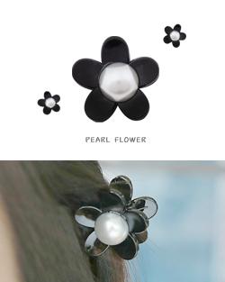 ヘーゼルお花真珠鉗子ピン(hp431)