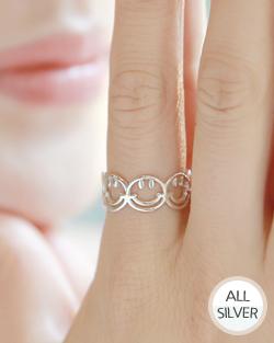 スマイルポン銀の指輪(rg475)
