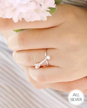 クレオメ真珠銀の指輪(rg471)
