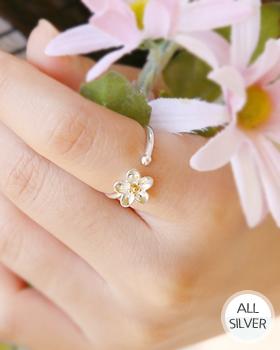 アスタ花銀の指輪(rg469)