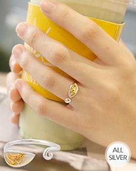 カラーお花銀の指輪(rg472)