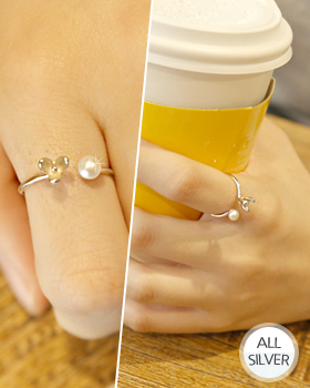 オーキッド真珠銀の指輪(rg470)